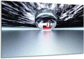 Glasschilderij Boot | Grijs, Wit, Rood | 120x70cm 1Luik | Foto print op Glas |  F000272