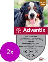 Advantix Spot On 600 6 ml - Anti vlooien en tekenmiddel - 2 x 4 pip 40-60 Kg