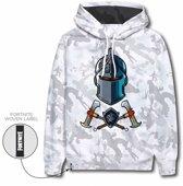 Fortnite sweater hoodie - camouflage - maat 152 cm / 12 jaar