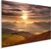 Lake District met oranje heuvels in Engeland Plexiglas 180x120 cm - Foto print op Glas (Plexiglas wanddecoratie) XXL / Groot formaat!