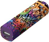 Tag Powerbank Stick Portable Charger 2600 - graffiti text