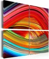 Schilderij - Kleurrijke diepten