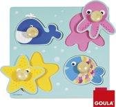 Goula houten puzzel zeedieren