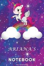 Ariana's Unicorn Rainbow Notebook