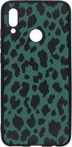 Design Backcover Color voor de Huawei P Smart (2019) - Panter Groen