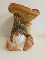 Kabouter blote voeten voor paddenstoel 30cm