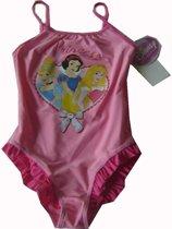Roze badpak Disney Prinsessen maat 104, hartprint