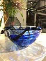 Kosta Boda Contrast schaal blauw - �23cm