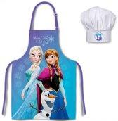 Disney Frozen kookschort en koksmuts met Elsa, Anna en Olaf 3 t/m 8 jaar