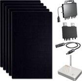 DMEGC  Zonnepanelen -  295 WP Ultra Black met Micro omvormers - 6 stuks