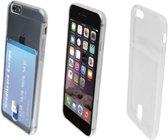 Wallet Smart TPU Case transparant voor Apple Iphone 7, met opbergvakje voor een pasje, transparant , merk i12Cover