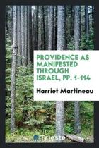 Providence as Manifested Through Israel ...