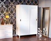 Mafkri kledingkast 2 deuren wit.