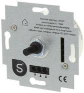 Smartwares S2 Inbouw Dimmer - Universele Drukwissel - LED - 6 - 150W - Element