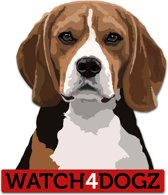 Beagle sticker (set van 2 stickers)