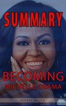 Boekomslag van 'Summary of Becoming Michelle Obama'