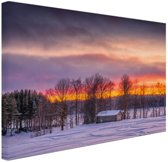 FotoCadeau.nl - Schemering Laagland in Zweden Canvas 30x20 cm - Foto print op Canvas schilderij (Wanddecoratie)