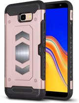 Ntech Samsung Galaxy J4 Plus (2018) Luxe Armor Case - Rose Goud