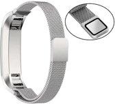 Milanees Horloge Band Voor de Fitbit Alta HR - Metalen Milanese Watchband - Large / Small Armband RVS - Zilver Kleurig
