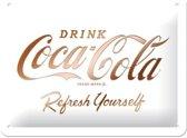 Wandbord - Coca-cola refresh yourself -15x20-