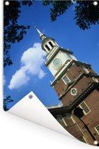 Uitzicht op het historische gebouw in de Verenigde Staten Tuinposter 120x180 cm - Tuindoek / Buitencanvas / Schilderijen voor buiten (tuin decoratie) XXL / Groot formaat!