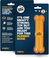 Tasty Bone Rubber Mighty Bone speelgoed kauwbot rubber oranje