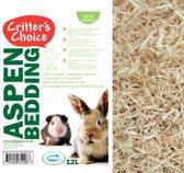 Critter's Choice Aspen Bedding Bodembedekking - 12 l