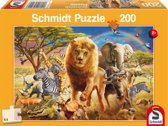 Afrikaanse dieren - Kinderpuzzel - 200 Stukjes