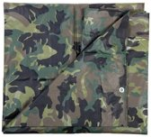 Groene camouflage afdekzeil / dekzeil - 2.85 x 4 meter - dekkleed / zeil