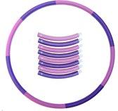 Weight hoop New Style - Fitnesshoelahoep - 1.8 kg - Ø 100 cm - Paars/Roze