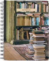 At Home with Books Medium Spiral Notebook
