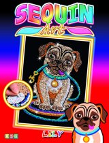 Sequin Lily Pug