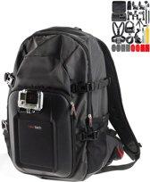 Navitech GoPro-rugzak met zwarte schokbestendige hoes en 18 in 1 accessoirekit