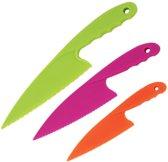 Kindvriendelijke gekleurde messenset voor kinderen - Vaatwasserbestendig