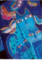Paperblanks Blue Cats & Butterflies Midi Lined Journal