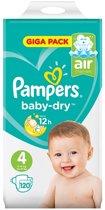 Pampers Baby-Dry Luiers - Maat 4 - 9 tot 14 kg -120 Stuks