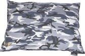 Lex & Max Army-Canvas - Hondenkussen - rechthoek - 100x70cm - Grijs