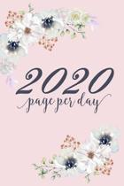 2020 Page Per Day: One Year Dated Blank Notebook