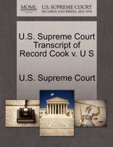 U.S. Supreme Court Transcript of Record Cook V. U S