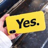 Lovebay Hoesje iPhone 7, 8 - Yes - Geel