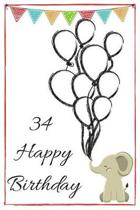 34 Happy Birthday - Baby Elephant