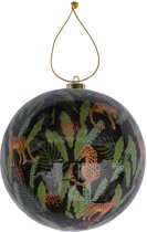 Home & Styling Collection Stay Wild Jungle Panter Kerstbal - 10 cm