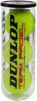 Dunlop TEAM PADEL 3PET - Geel - Padelballen - 603179
