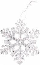 Kersthanger sneeuwvlok zilver 10 cm