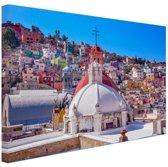 Guanajuato Mexico foto Canvas 180x120 cm - Foto print op Canvas schilderij (Wanddecoratie woonkamer / slaapkamer) XXL / Groot formaat!