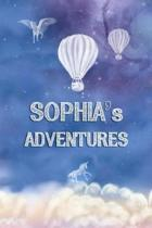 Sophia's Adventures: Softcover Personalized Keepsake Journal, Custom Diary, Writing Notebook with Lined Pages