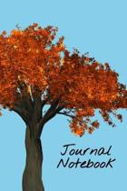 Journal Notebook: Blank Lined Notebook Journal 6'' x 9'' 120 Pages, Cute Fall Autumn Leaves Writing Book