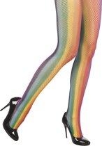 Netpanty Neon Regenboog Visnet Panty   One size