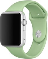 123Watches.nl bandje - Apple Watch Series 1/2/3/4 (42&44mm) - Mintgroen - S/M