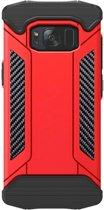 Let op type!! Samsung Galaxy S8 + / G9550 Robuust pantser beschermend TPU + metaal back cover Hoesje (rood)